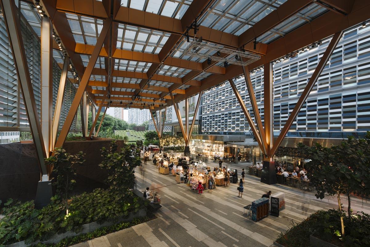 Tanjong Pagar Center Connects Neighborhoods with Extensive Green Open Space