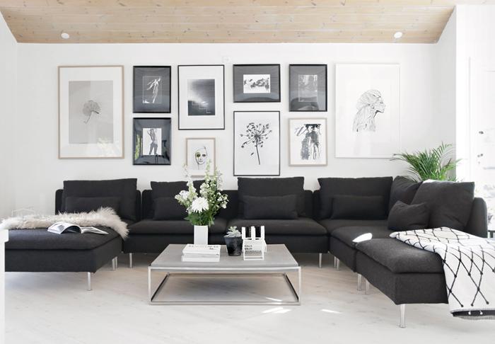 Hasil gambar untuk Kombinasi Desain Interior Warna Hitam dan Putih