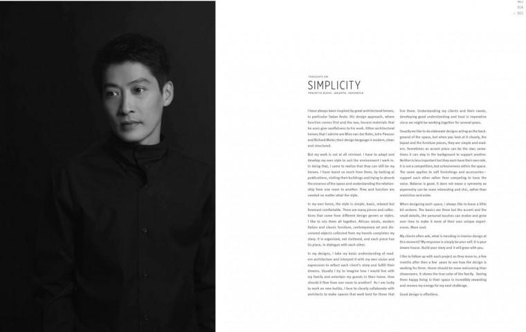 Selang Delapan Tahun, Desainer Interior Prasetio Budhi Luncurkan Buku Keduanya, Simply Refined