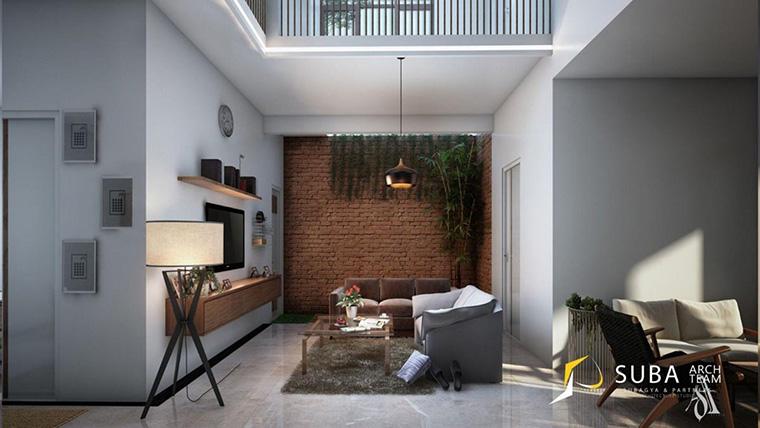 Dinding Batu Bata Sebagai Focal Point di Rumah