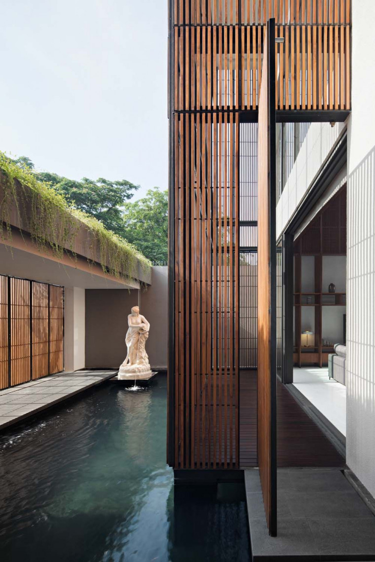eben Incorporates Double Courtyards into a House for Tranquil Living in Jakarta