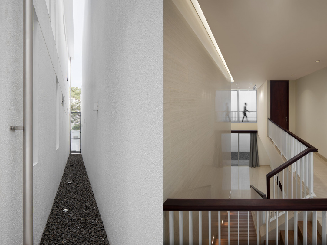 The Silver Lining House Translates Feng Shui Requirement into a Simple White Box Facade