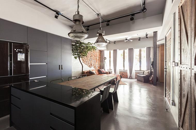desain rumah industrial minimalis desain interior industrial