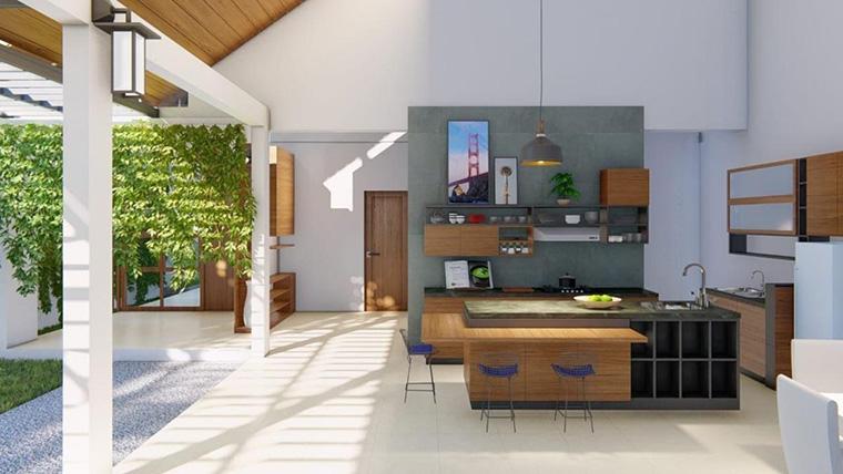 Design Dapur Menyatu Dengan Taman  masak lebih adem dengan konsep dapur semi oudoor ini 6