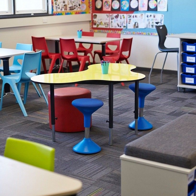 Adjusta Stool by Office Line allows students to constantly adjust their posture