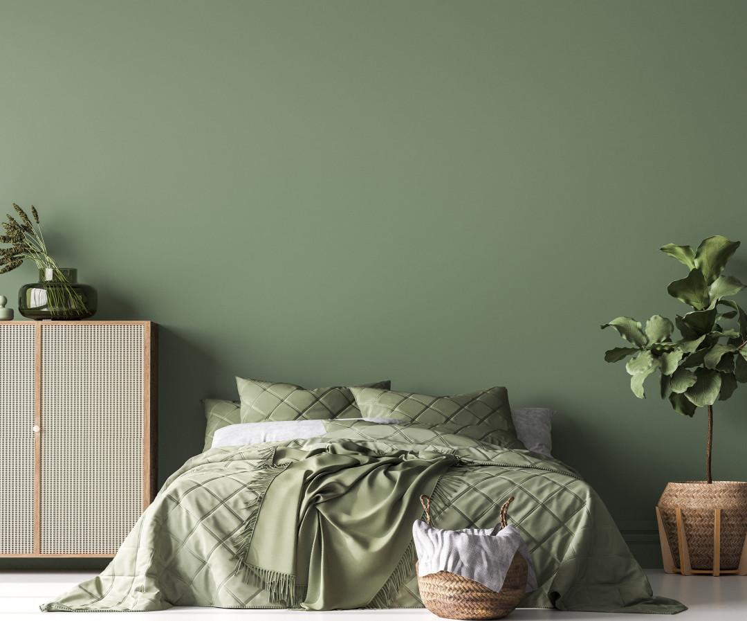 Forest Green Bedroom - Shutterstock