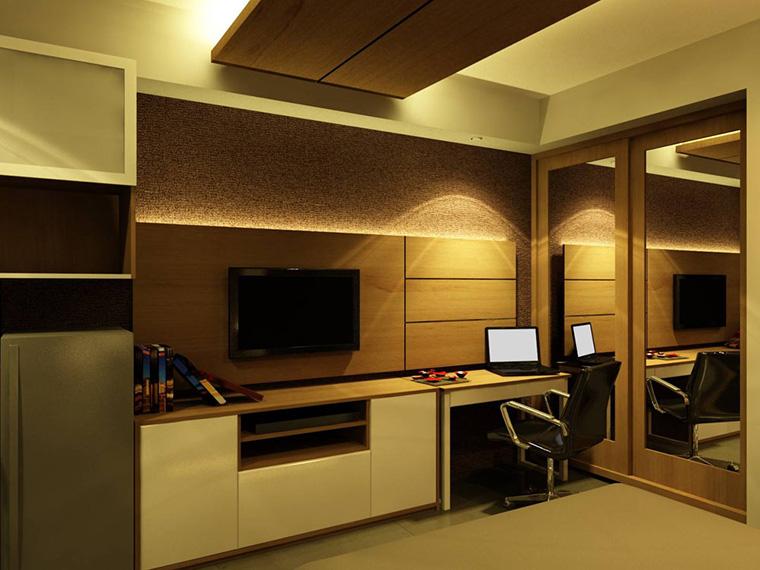 tips dan trik merancang pencahayaan ruang-pada furnitur atria apartment