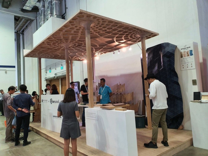 Raised Deck Support for Structural Pavilion at ArchXpo 2019