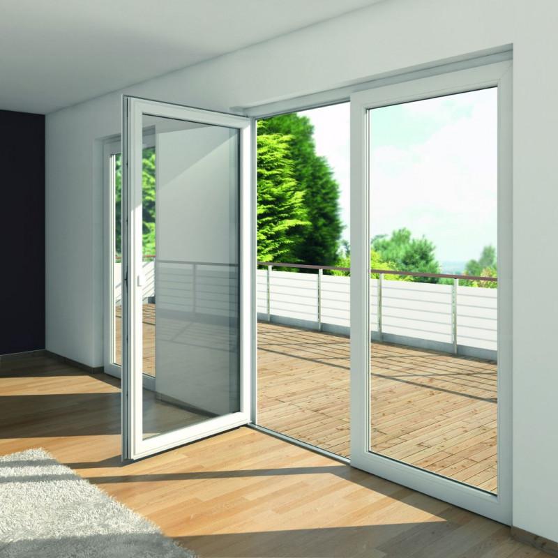 Barrier-free window doors with zero level threshold