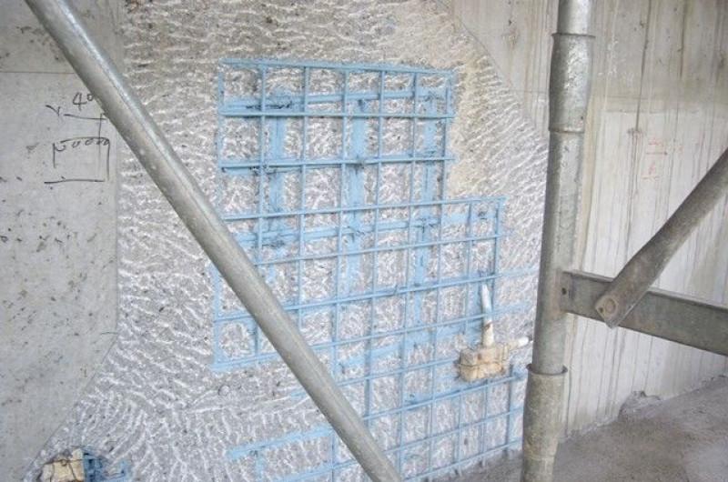 Spalling concrete