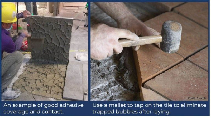 Factors affecting tile adhesion during tile installation