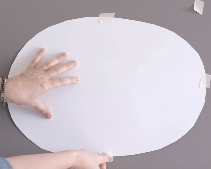 How to paint an oval wall design in 5 easy steps